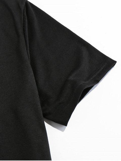 ZAFUL Perfurado T-shirt Especial de Emagrecimento para Homens - Preto L Mobile