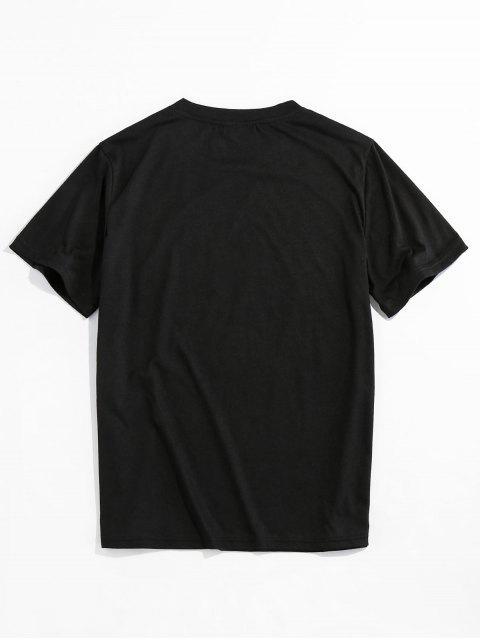 shop ZAFUL Ammerican Flag New York Basic T-shirt - BLACK XL Mobile