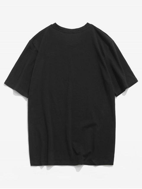 outfits ZAFUL American Flag Paisley Print T-shirt - BLACK XL Mobile