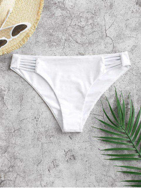 ZAFUL Leiter Hollow Out Bikini Unterteile mit Niedriger Taille - Weiß M Mobile