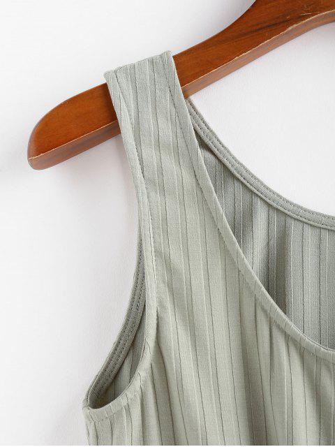 ZAFUL Haut Court Boutonné Noué en Avant - Vert clair XL Mobile