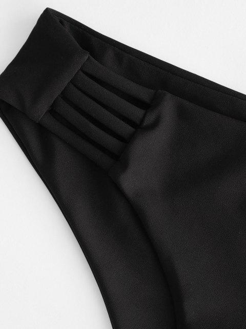 ZAFUL Leiter Hollow Out Bikini Unterteile mit Niedriger Taille - Schwarz M Mobile