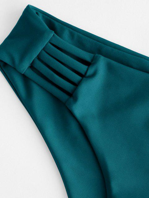 ZAFUL Leiter Hollow Out Bikini Unterteile mit Niedriger Taille - Dunkelgrün M Mobile