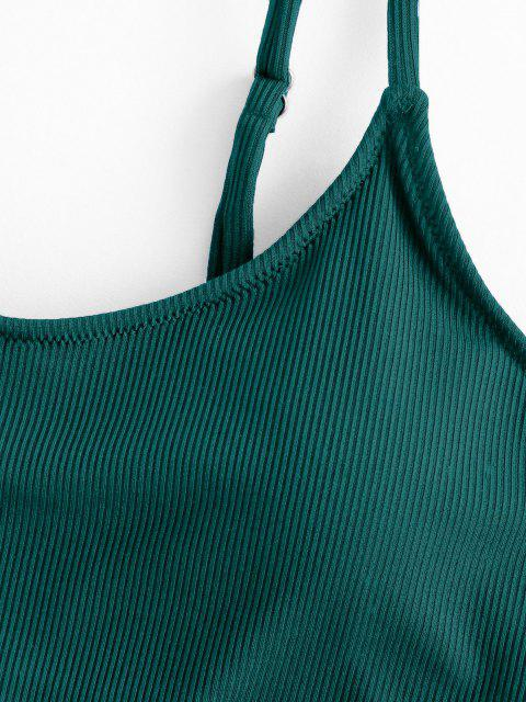 Bikini Top Corto a Costine Basic di ZAFUL - Verde intenso M Mobile