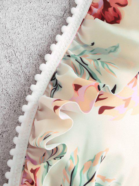 Costume da Bagno Bikini di ZAFUL Floreale con Volant - Multi Colori-A M Mobile