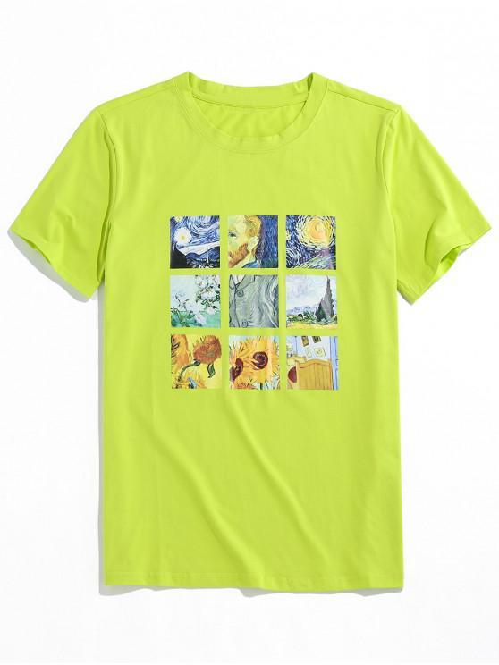 ZAFUL Graphic Painting Print T-shirt - أخضر S