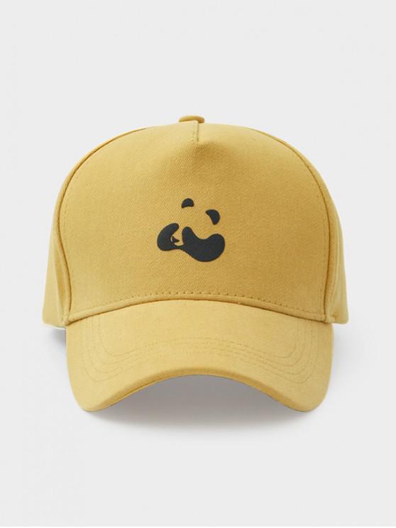 Panda Print Bumbac Baseball Cap - Galben deschis