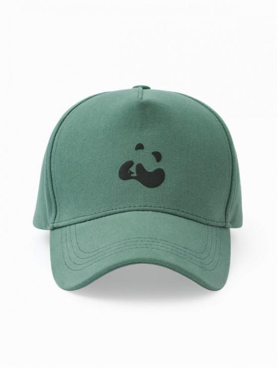 Panda Print Bumbac Baseball Cap - Turtle de mare verde
