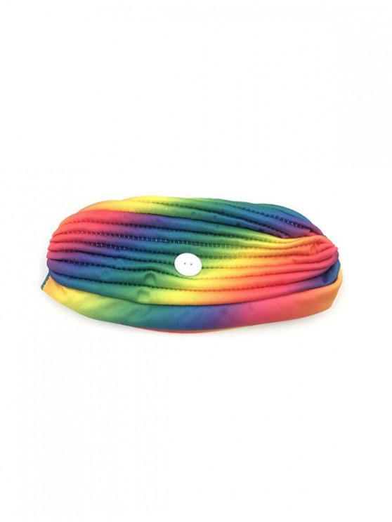 Cappello da Banchetto con Bottoni Colorati a Maschera Stampato - Multi Colori-B