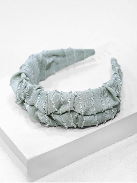 online Solid Striped Wide Hairband - LIGHT BLUE