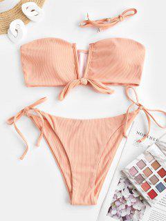 ZAFUL Maillot De Bain Bikini  Orange Noué - Orange Clair M