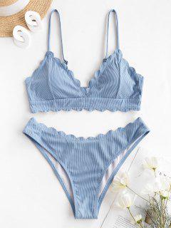ZAFUL Maillot De Bain Bikini Océan - Bleu Clair L
