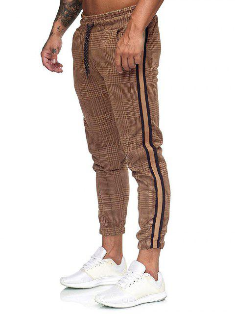 Pantalones Jogger Estampado Pata de Gallo Cordón - Multicolor-A 3XL Mobile