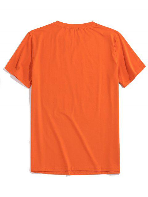 outfit ZAFUL Graphic Painting Print T-shirt - ORANGE 2XL Mobile