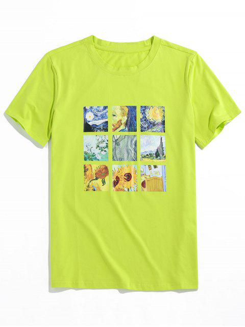 ZAFUL Graphic Painting Print T-shirt - أخضر XL Mobile