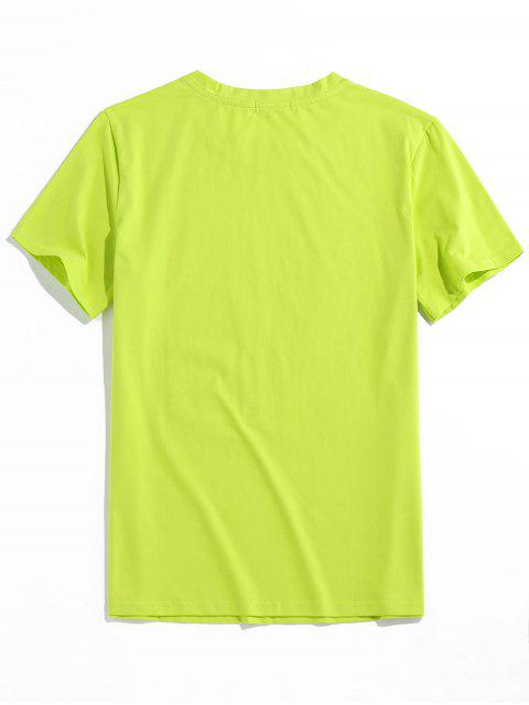 trendy ZAFUL Graphic Painting Print T-shirt - GREEN 2XL Mobile