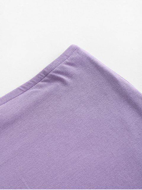 sale Plain Mini Bodycon Skirt - LIGHT PURPLE S Mobile