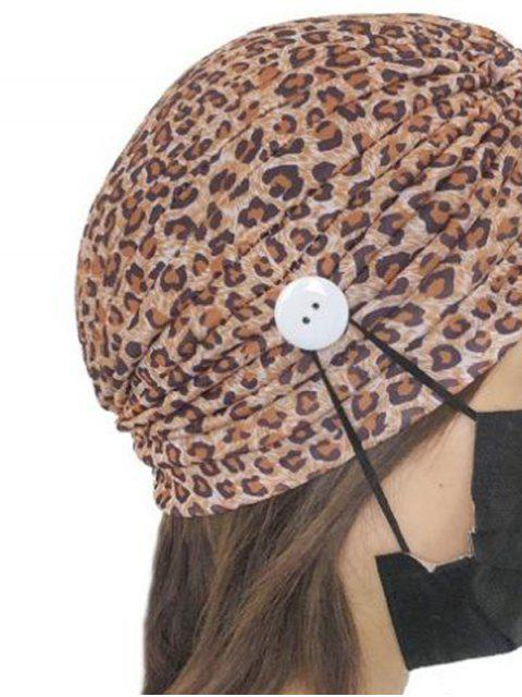 lady Colored Printed Mask Hanging Button Indian Hat - MULTI-D  Mobile
