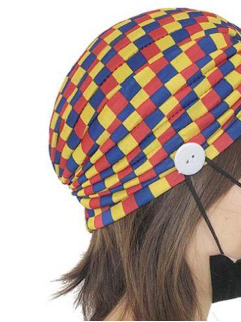 Chapeau Masque Indien à Imprimé Coloré avec Boutons - Multi-C  Mobile
