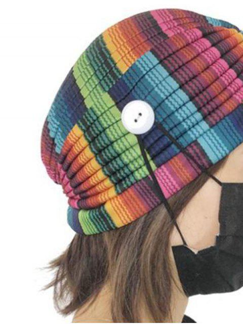 Colored Printed Mask Hanging Button Indian Hat - Multi-A  Mobile