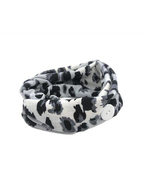 women's Leopard Elastic Mask Hanging Button Sports Headband - GRAY GRAY LEOPARD Mobile