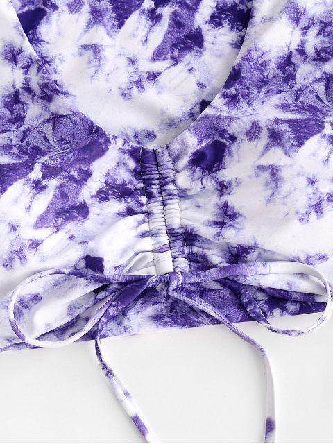 ZAFULタイダイ締めスリーピース水着 - 紫の S Mobile