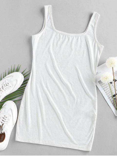 ZAFUL Bodycon Minikleid mit U Ausschnitt - Weiß S Mobile