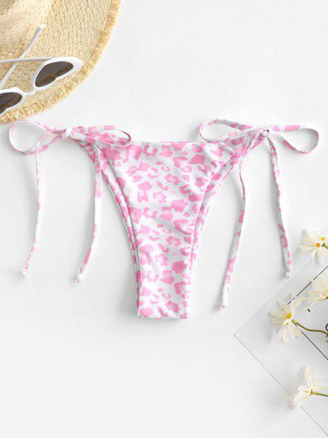 ZAFUL Bottom de Bikini con Estampado de Animal - Rosa claro S Mobile