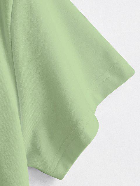Brust Grafik T-Shirt - Grün L Mobile