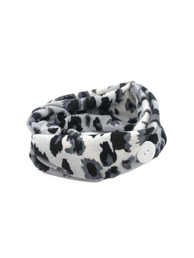 Leopard Elastic Mask Hanging Button Sports Headband - Gray Gray Leopard