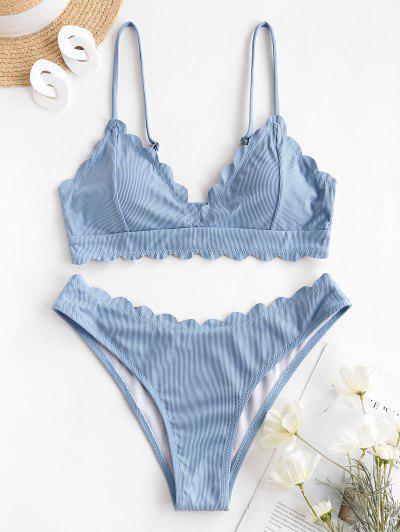 ZAFUL Maillot De Bain Bikini Océan - Bleu Clair S