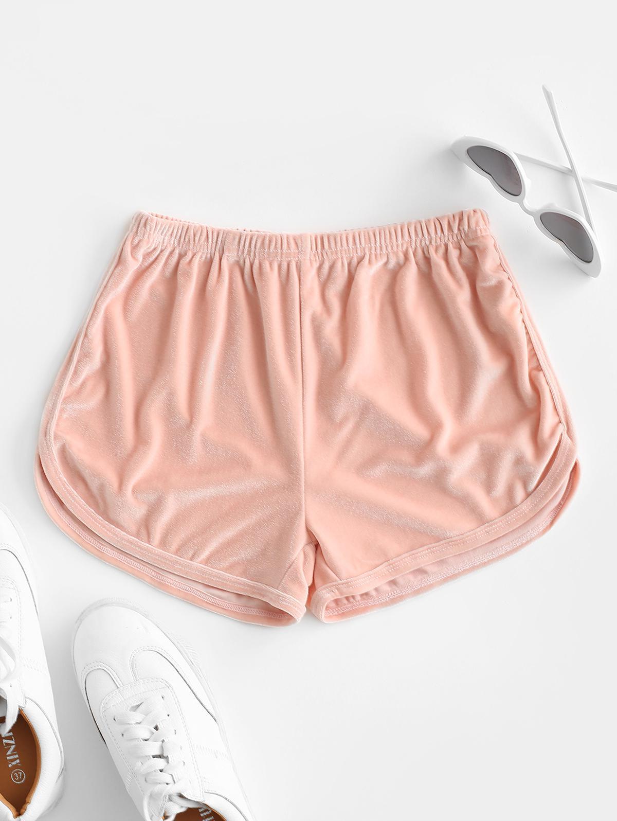 Velvet Plain Pull On Shorts