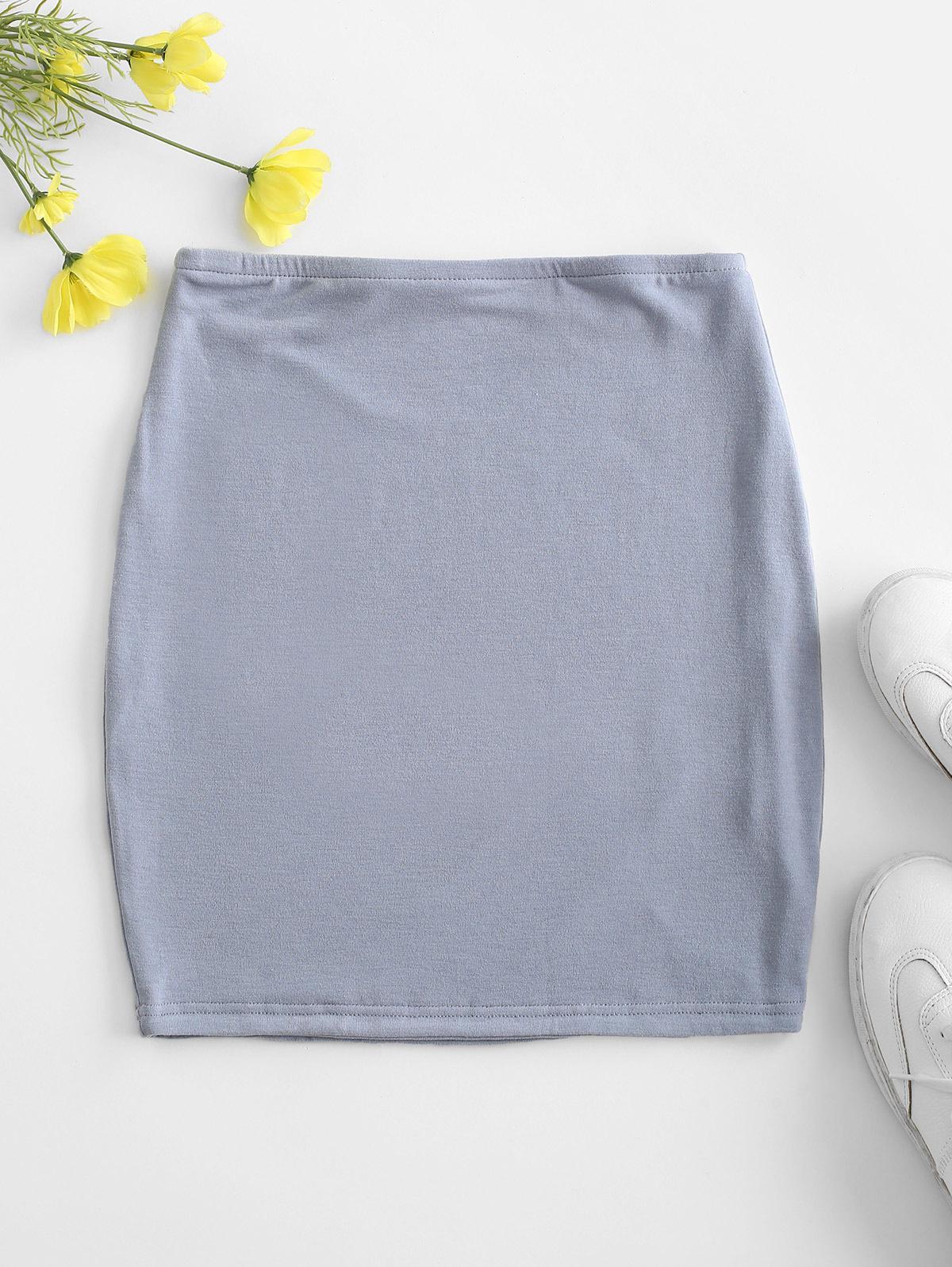 Plain Mini Bodycon Skirt