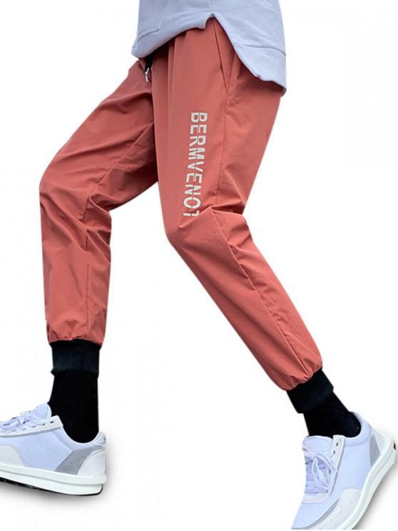 Graphic Print pantaloni casual jogger - Baschet mingea Orange 4XL