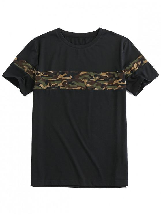 ZAFUL Camouflage Print Short Sleeve Cool T-shirt - أسود 2XL