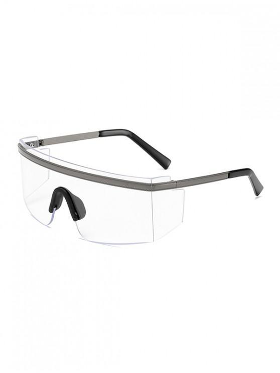 hot One-piece Anti-wind Oversized Sunglasses - TRANSPARENT