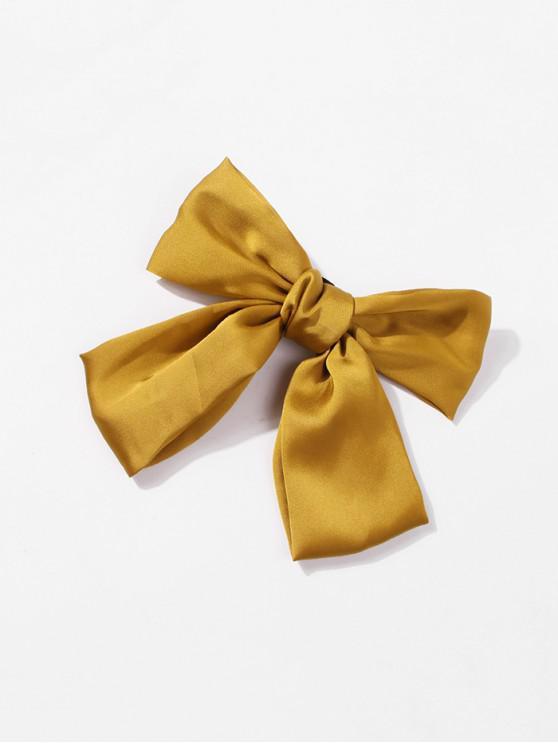 Bowknot Satin Fabric Barrette - الأصفر