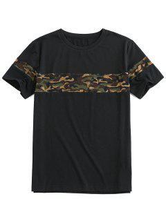 ZAFUL Camouflage Print Short Sleeve Cool T-shirt - Black M