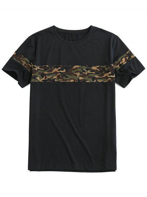ZAFUL Camouflage Print Short Sleeve Cool T-shirt - أسود 2XL Mobile
