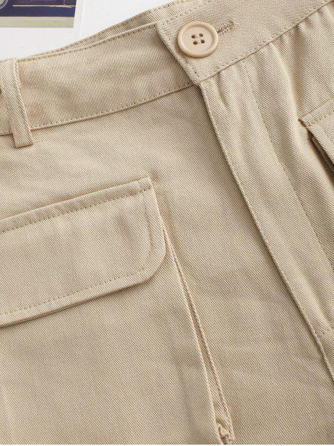 outfits Flap Pockets Cargo Shorts - LIGHT COFFEE M Mobile