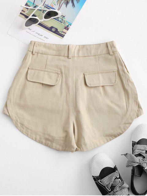 shops Flap Pockets Cargo Shorts - LIGHT COFFEE S Mobile