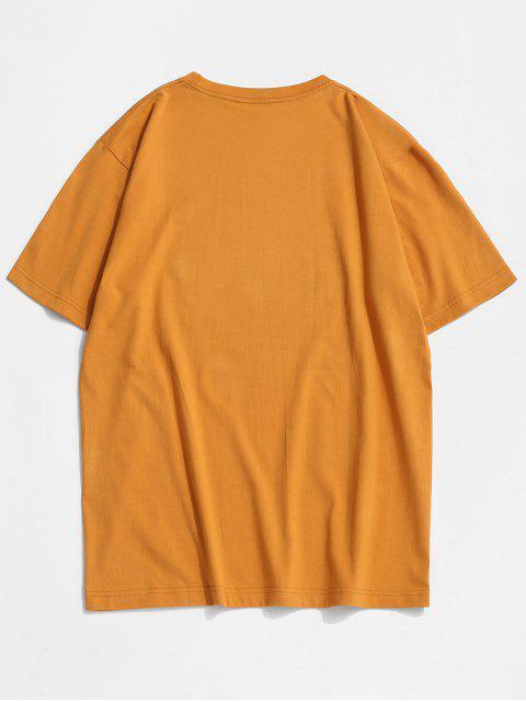Basic Butterfly Paint Print T-shirt - نحلة صفراء XL Mobile