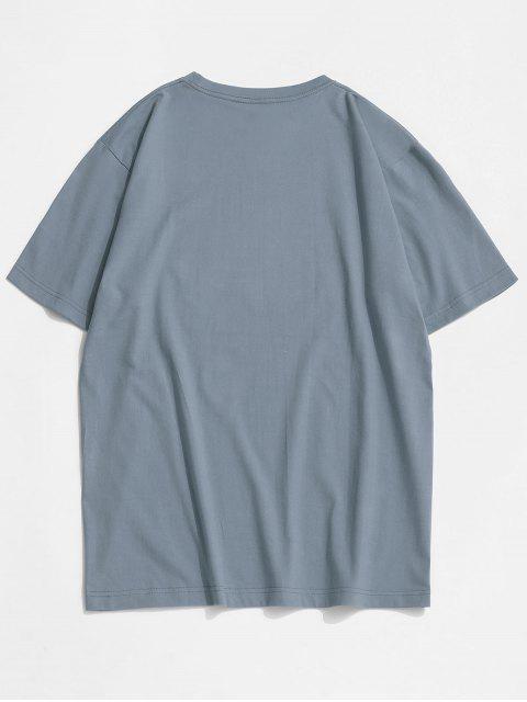 T-shirt con Stampa a Farfalla - Blu Koi S Mobile