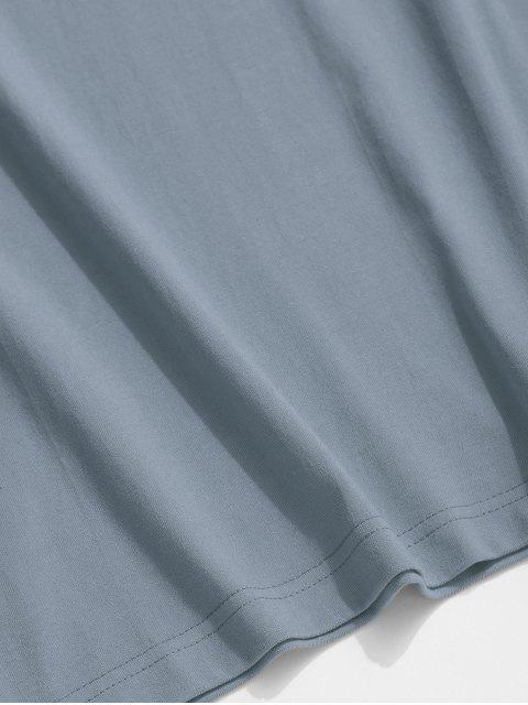Camiseta Básica con Estampado de Mariposa - Azul de Koi XL Mobile