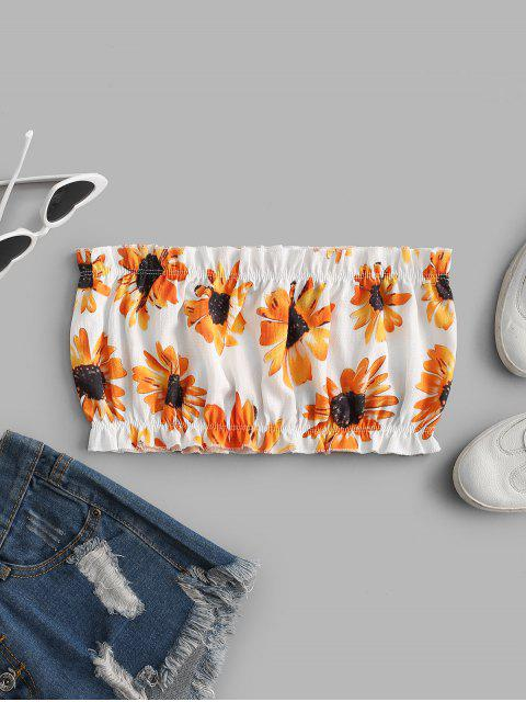 ZAFUL Sonnenblume Bandeau Top - Weiß M Mobile