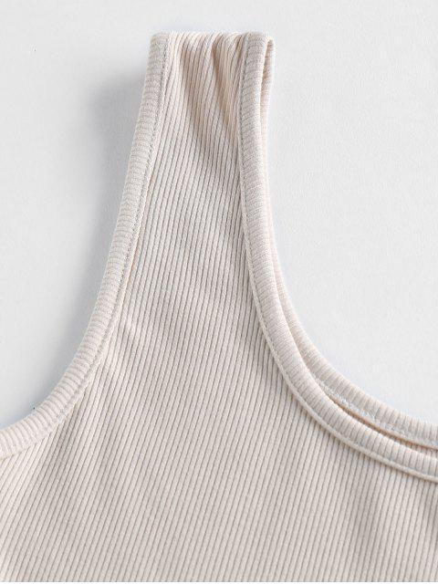ZAFUL Regatas Cortado com Renda Transparente - Branco S Mobile