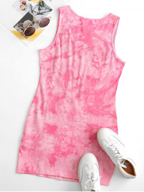 outfits Tie Dye Bodycon Tank Dress - LIGHT PINK S Mobile