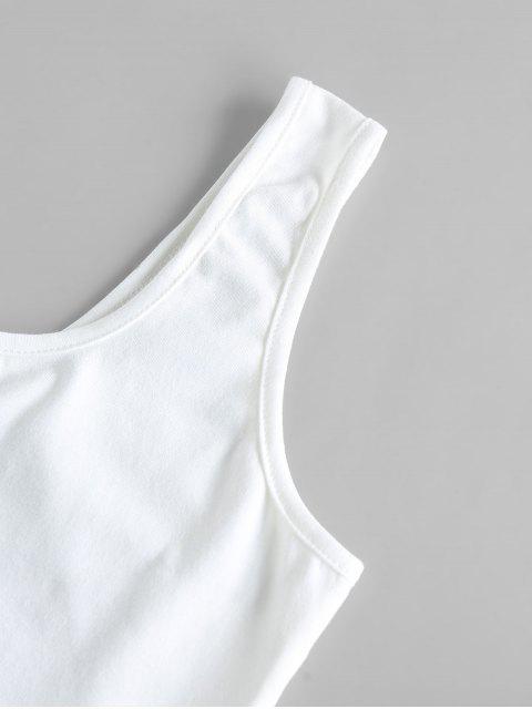 latest ZAFUL V Notched Grid Paperbag Shorts Set - TAN S Mobile