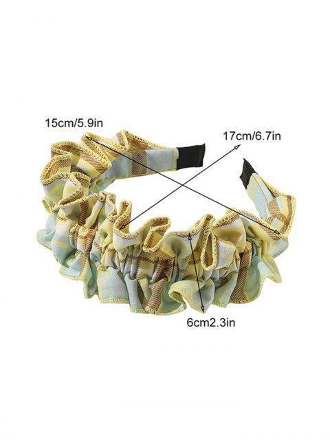 Plaiddruck Rüschenstirnband - Grün  Mobile