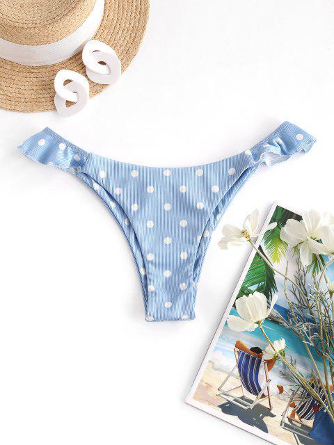ZAFUL Tupfen Rüschen Bikini Unterteile mit Rüschen - Hellblau M Mobile